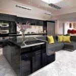 Черная кухня в современном стиле