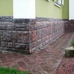 Дом с крашенными стенами