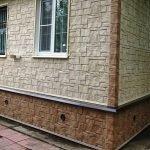 Выделение цоколя и стен цветом