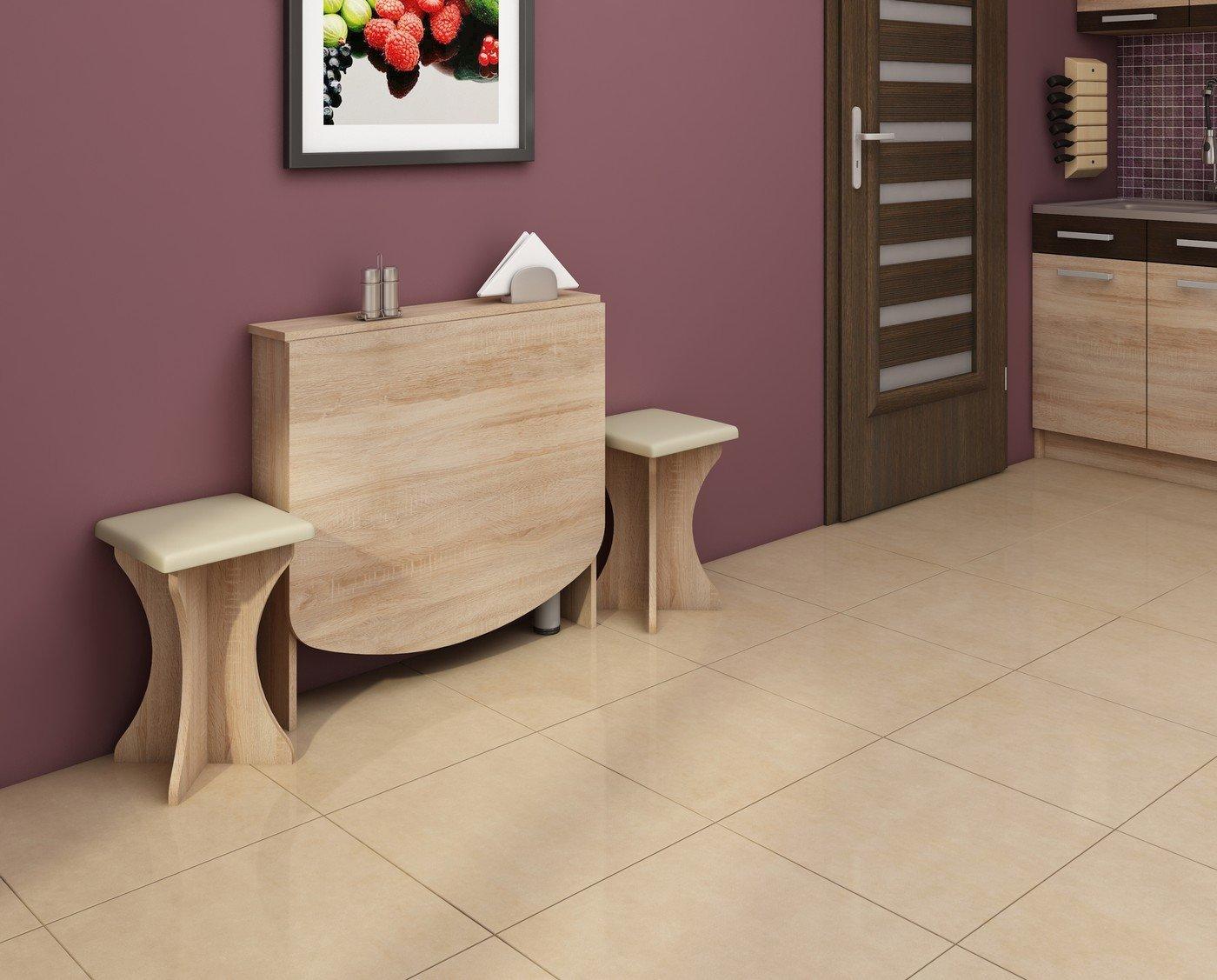 Прямоугольный откидной стол в интерьере