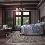 Дизайн интерьера спальни с вагонкой