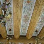 Деревянный декор потолка