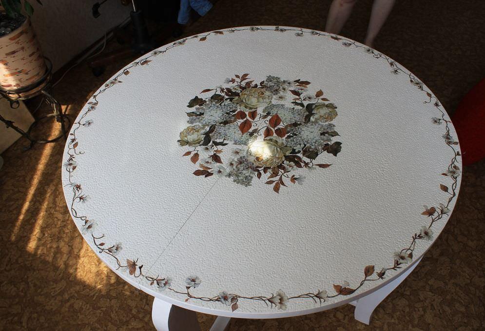 Декор пластикового стола