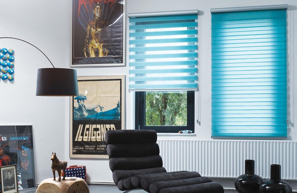 Рулонные шторы в интерьере кабинета
