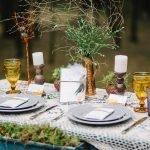 Оформление стола для пикника