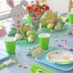 оформление детского стола в зеленых оттенках