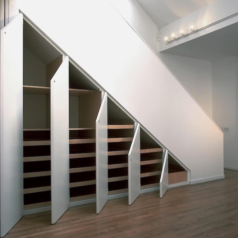 Внутреннее наполнение шкафа под лестницей