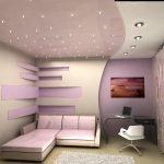 Натяжные потолки с точечными светильниками
