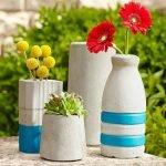 Светлые вазы