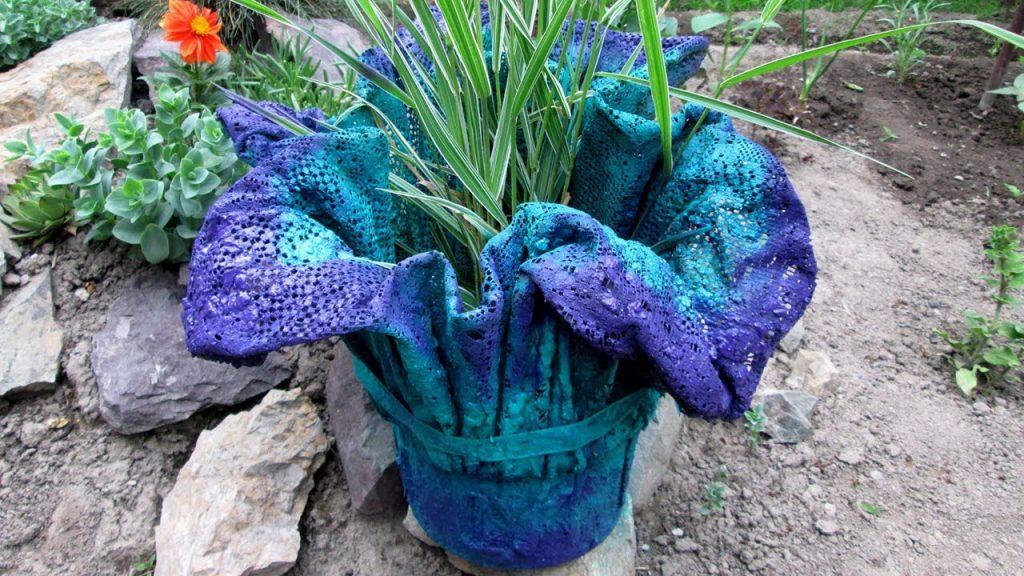 Готовая ваза из ткани