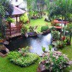Ландшафтный дизайн сада с беседкой