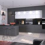 Дизайн кухни в черно-белых тонах