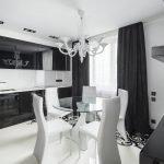 Декоративное оформление черно-белой кухни