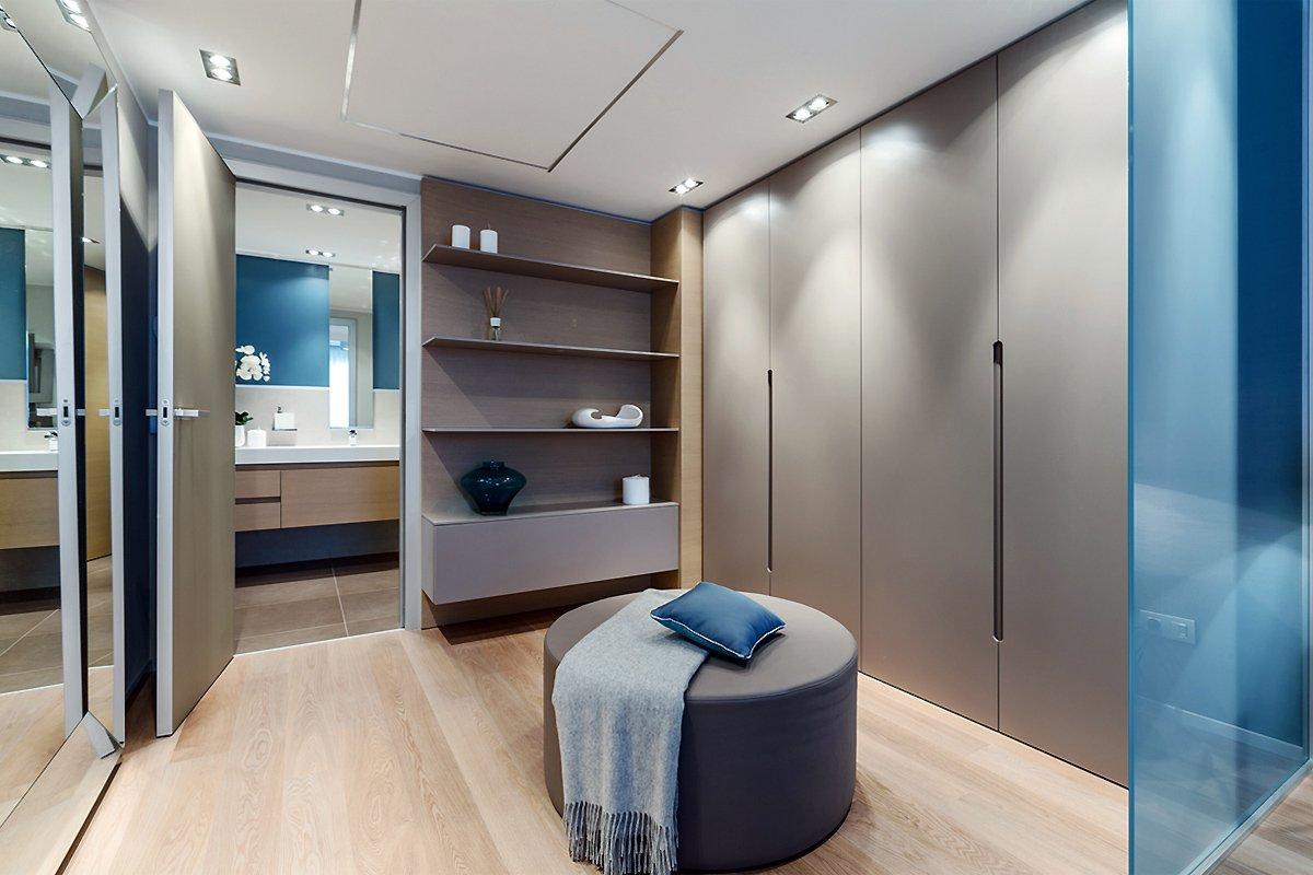 Лофт стиль гардеробной комнаты