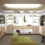 Подвесной потолок в гардеробной