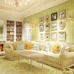 Светильники над диваном