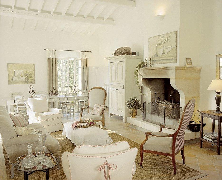 развитость туристической гостиная в стиле прованс с камином фото обнаружили