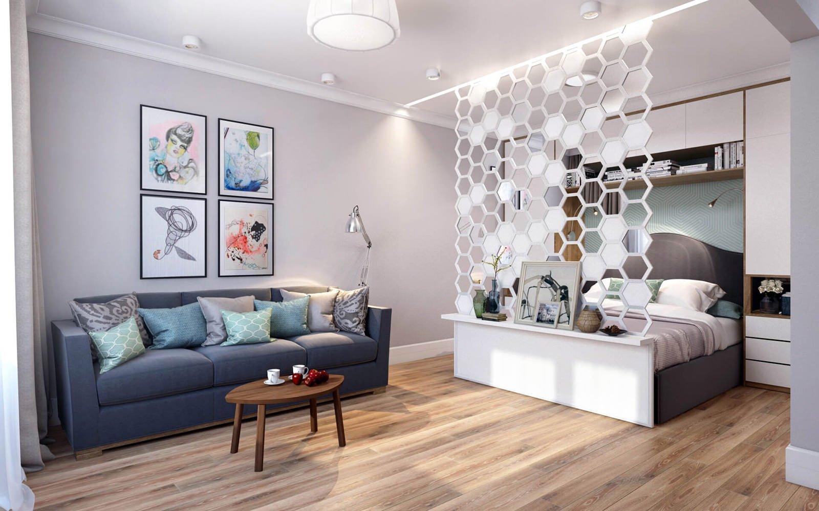 Недорогой интерьер однокомнатной квартиры
