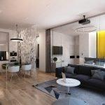 Квартира-студия дизайн интерьера