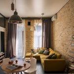 Дизайн интерьера комнаты в стиле лофт
