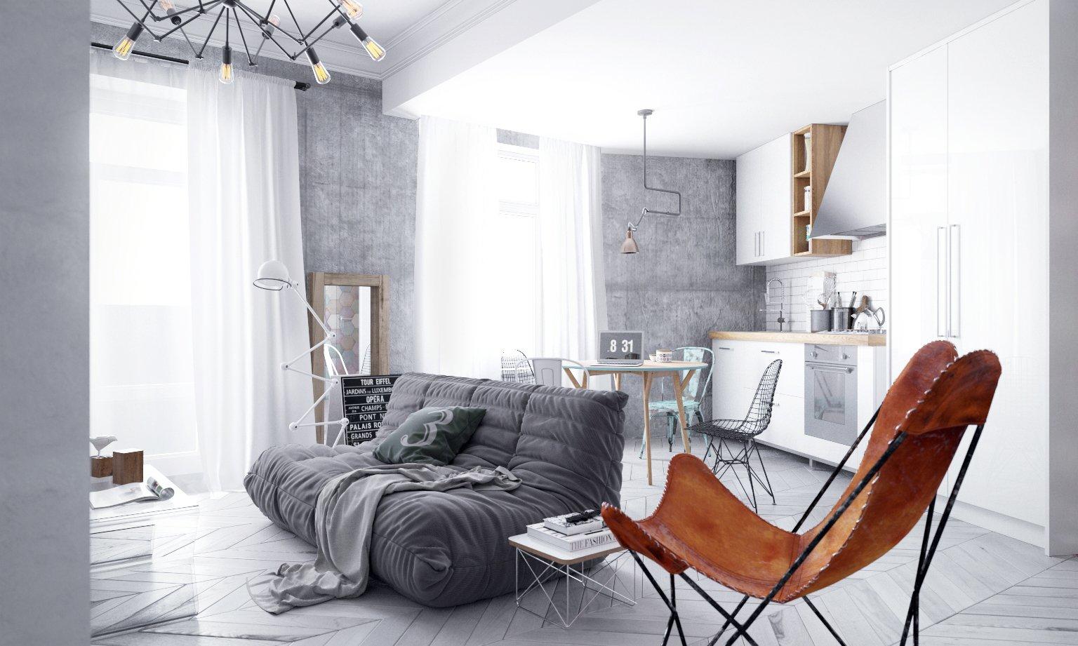 Неостиль в интерьере маленькой квартиры
