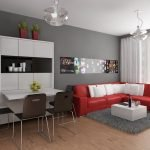 Освещение однокомнатной квартиры