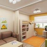 Зонорование детской в однокомнатной квартире