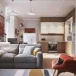 Прямоугольная квартира-студия