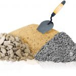 Песок, щебень, цемент