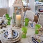 Морской стиль в декоре стола