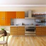Яркие фасады на кухне