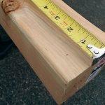 Отмеряем длину 10,5 см