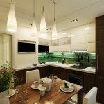 Освещение в кухне