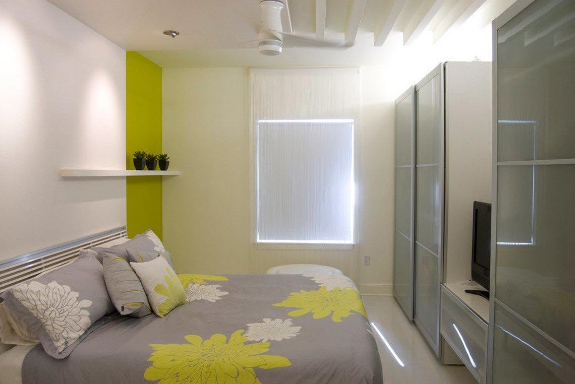 Обои в маленькой комнате в стиле модерн