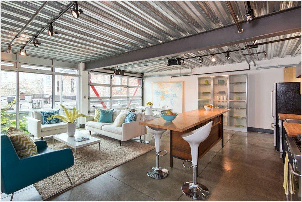 Потолок из металла в стиле хай тек