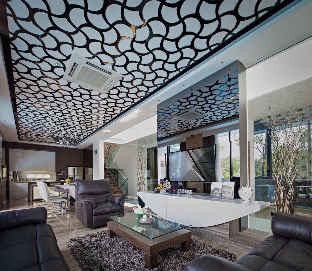 Потолочные стеклянные панели