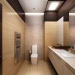 Интерьер узкого туалета