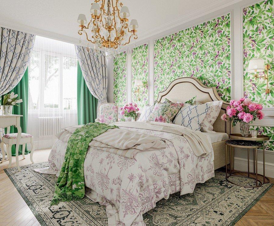 Отделка спальни в стиле прованс