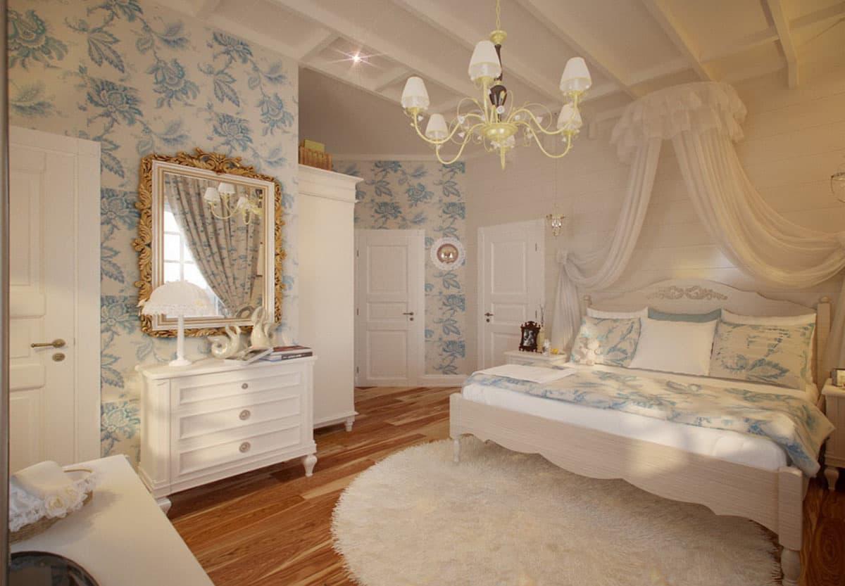 Освещение спальни в стиле прованс