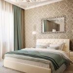 Яркие шторы в спальне