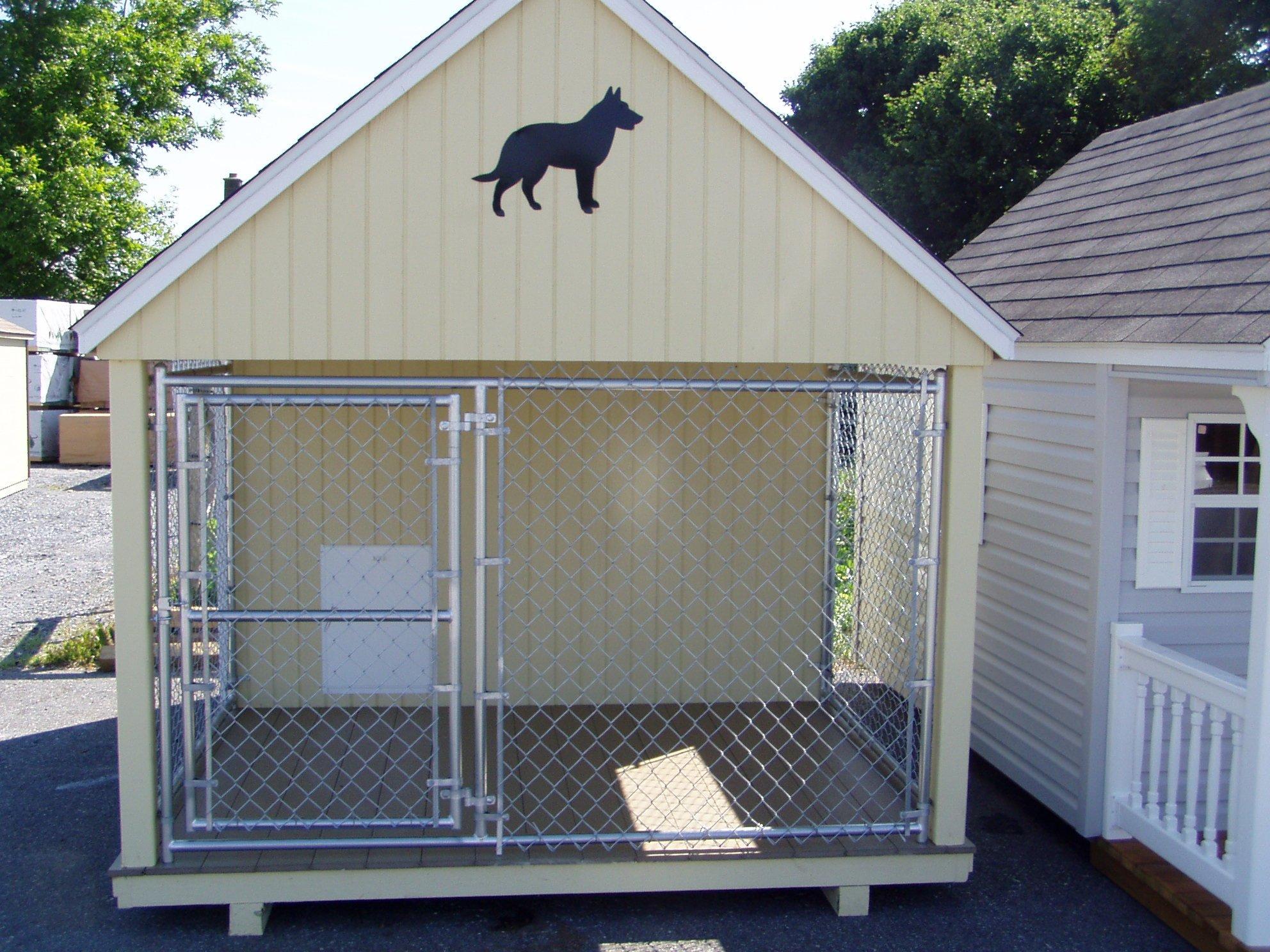 Вольер с домом для собаки