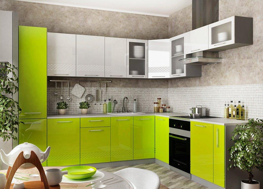 кухонный гарнитур глянец фото них красив