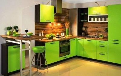Дизайн зеленой кухни: реальные интерьеры
