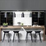 Брарная стойка для кухни с подсветкой
