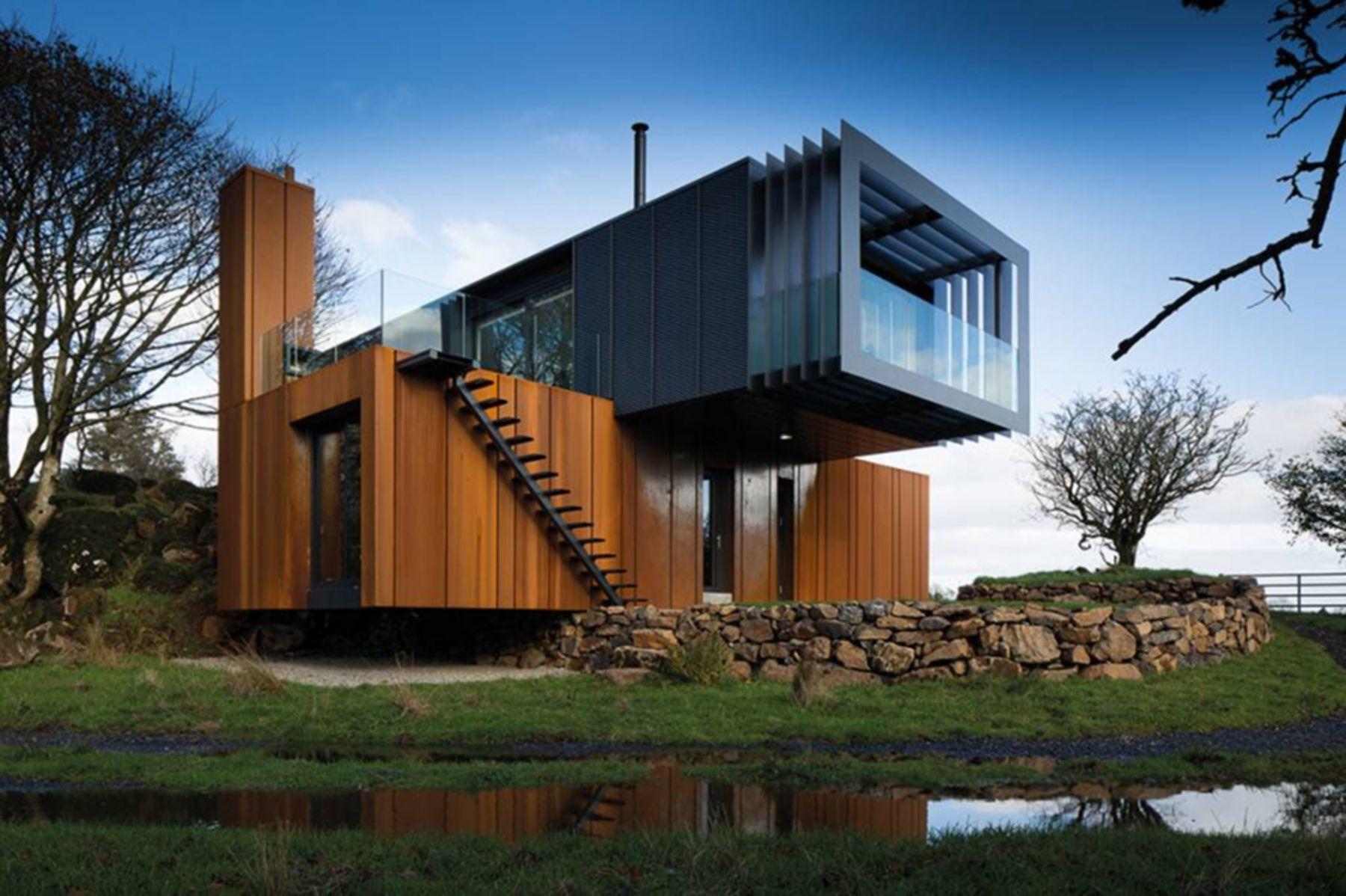 Дизайн дома из контейнера