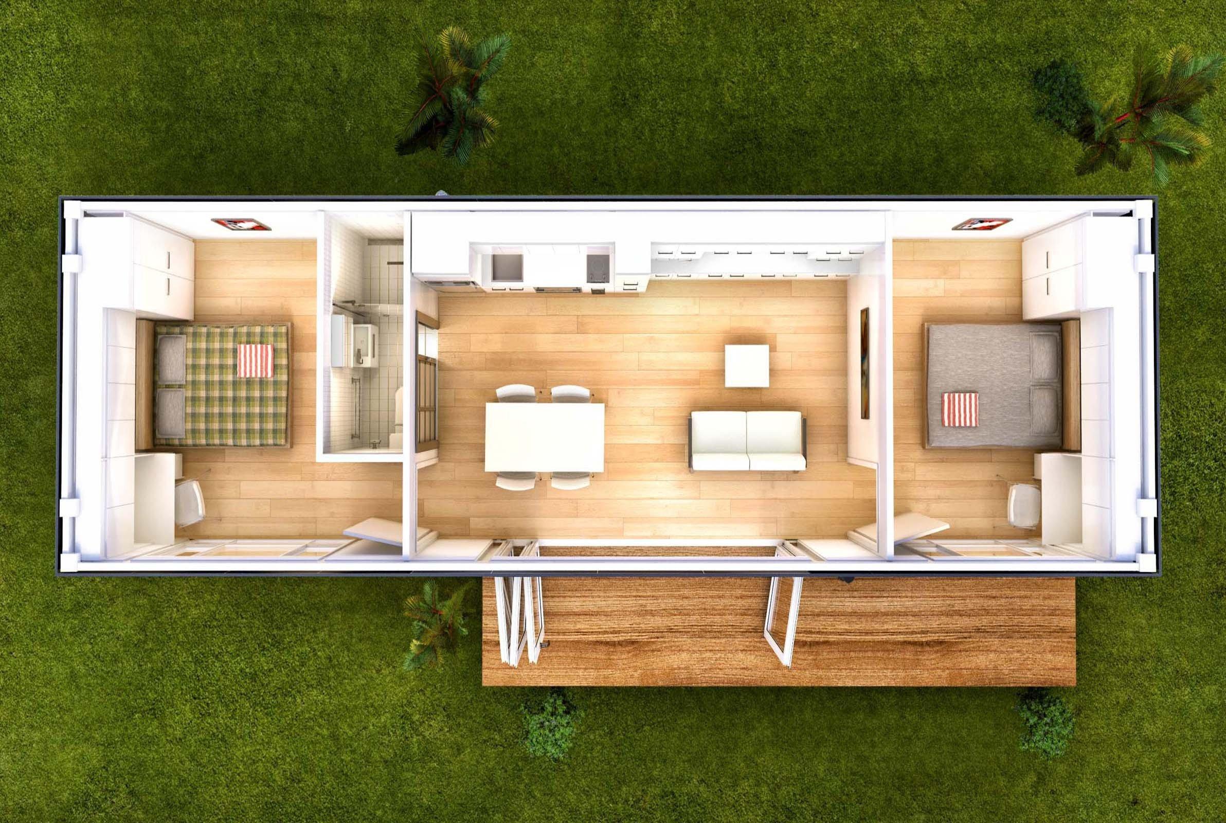 Проект дома из контейнера