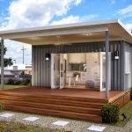 Дачный домик с террасой