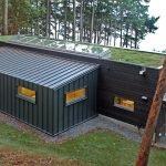 Дом с мастерской из контейнеров