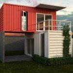 Двухэтажный модульный дом