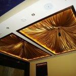 Квадраты с подсветкой на потолке